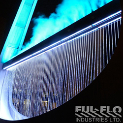 Water Fountain With Blue Lighting